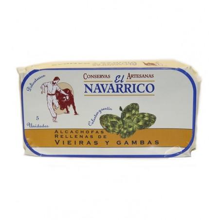Alcachofas rellenas de Vieiras y Gambas EL NAVARRICO