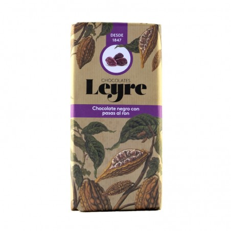 Chocolate negro con pasas al ron LEYRE